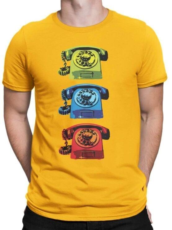 1845 Retro Phones T Shirt Front Man