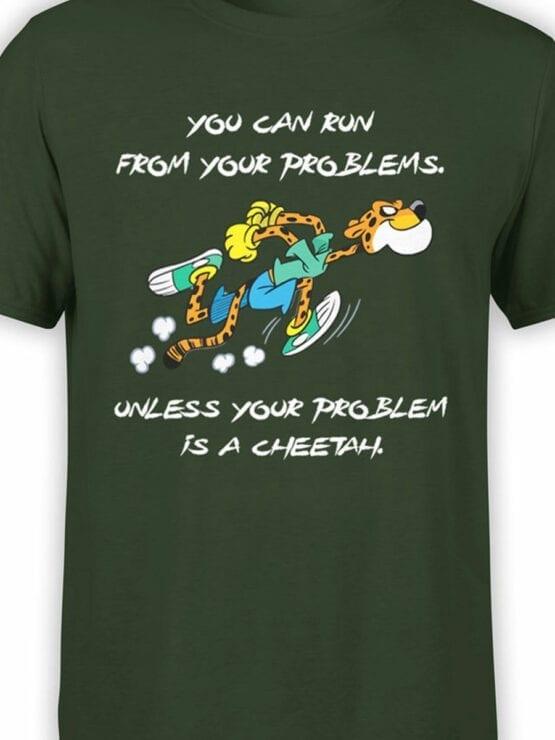 1846 Cheetah Problem T Shirt Front Color
