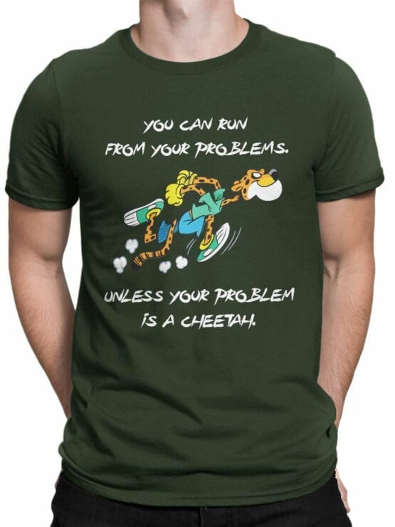 1846 Cheetah Problem T Shirt Front Man