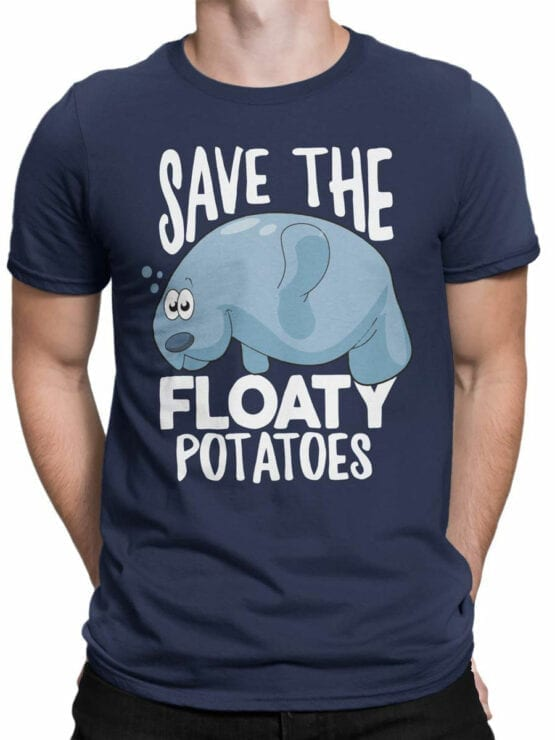 1847 Save the Floaty Potato T Shirt Front Man