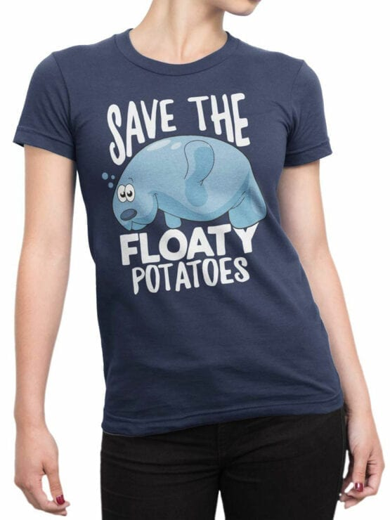 1847 Save the Floaty Potato T Shirt Front Woman