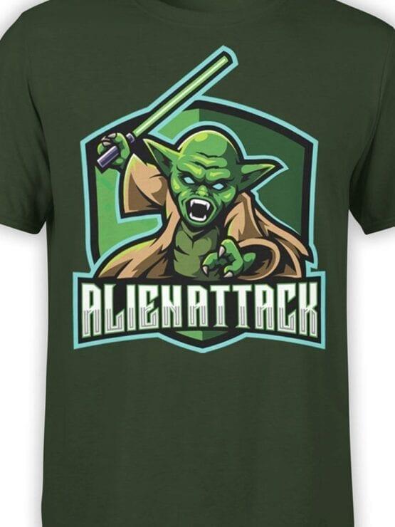 1849 Star Wars T Shirt Alien Attack Front Color