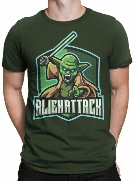 1849 Star Wars T Shirt Alien Attack Front Man