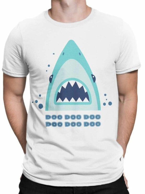 1850 Shark Doo Doo T Shirt Front Man