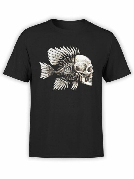 1851 Skull Fish T Shirt Front