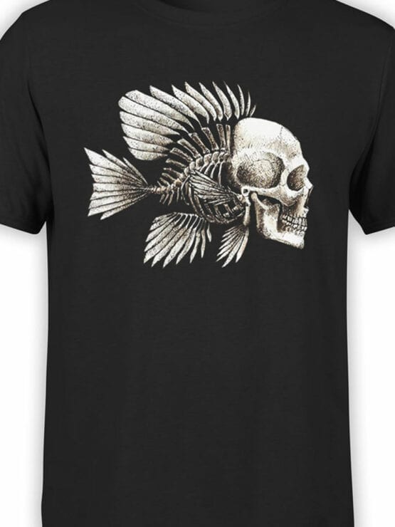 1851 Skull Fish T Shirt Front Color