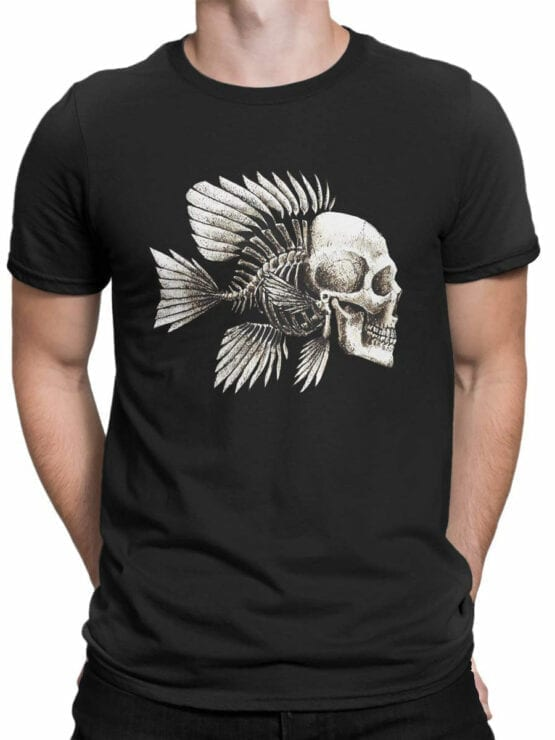 1851 Skull Fish T Shirt Front Man