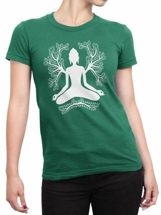 1853 Meditation T Shirt Front Woman