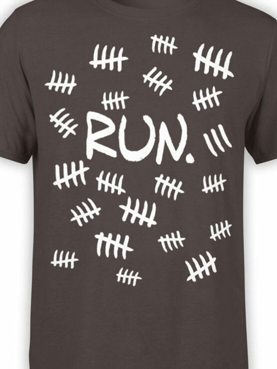 1858 Run T Shirt Front Color