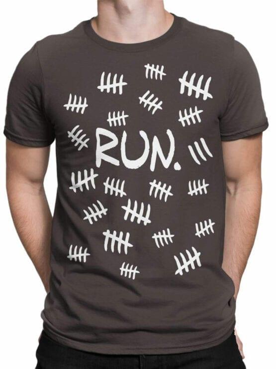 1858 Run T Shirt Front Man