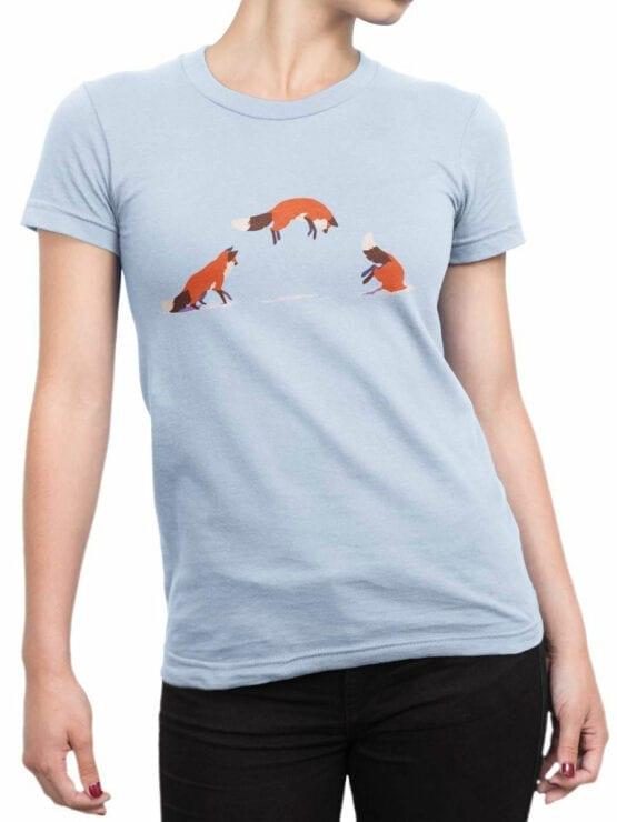 1859 Fox Jump T Shirt Front Woman