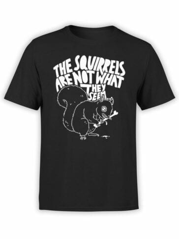 1860 Scary Squirrels T Shirt Front
