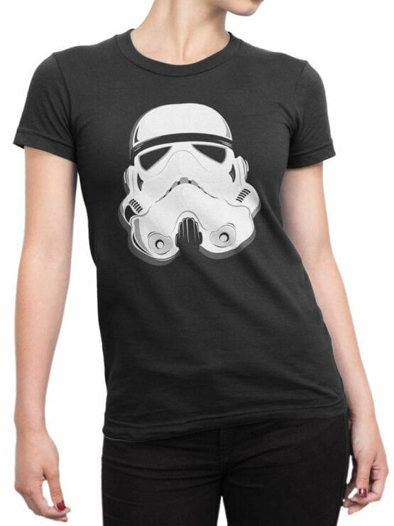 1863 Stormtrooper Helmet T Shirt Front Woman