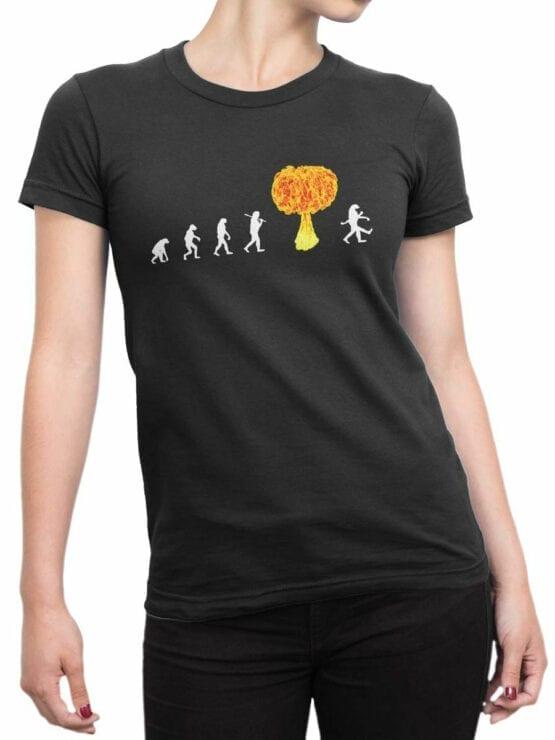 1864 Radiation Evolution T Shirt Front Woman