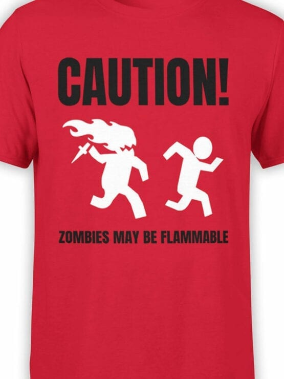 1866 Flammable Zombies T Shirt Front Color