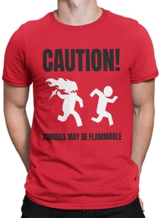 1866 Flammable Zombies T Shirt Front Man