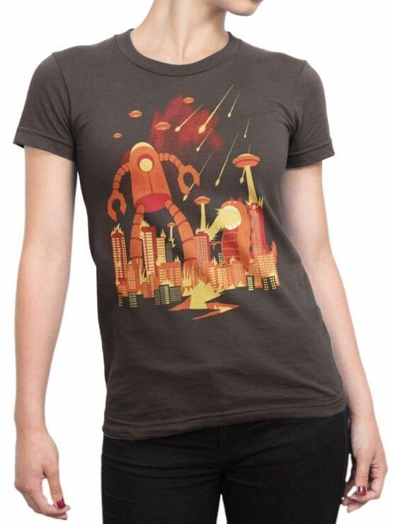 1867 Retro Armageddon T Shirt Front Woman