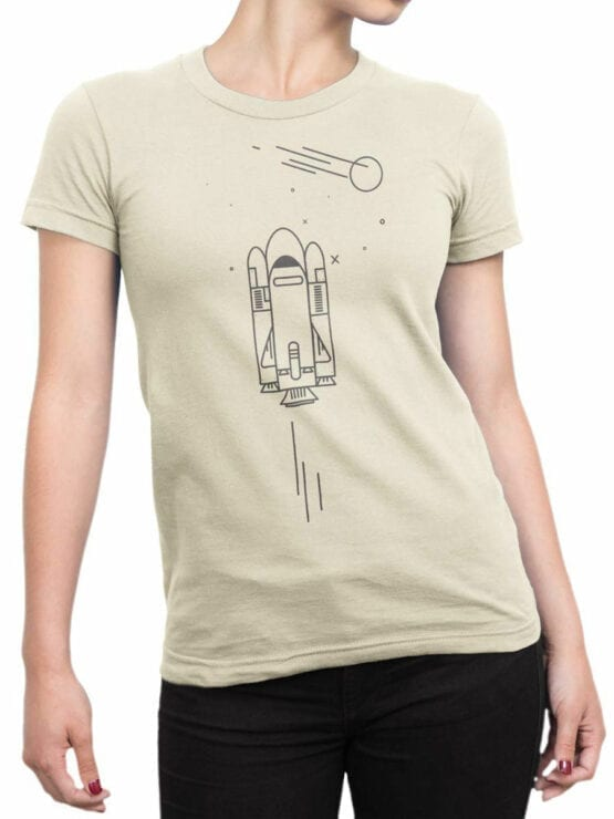 1868 Spaceship Icon T Shirt Front Woman