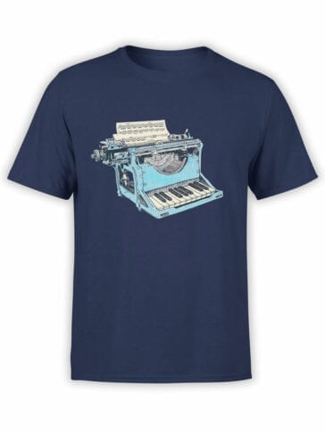 1869 Musical Typewriter T Shirt Front