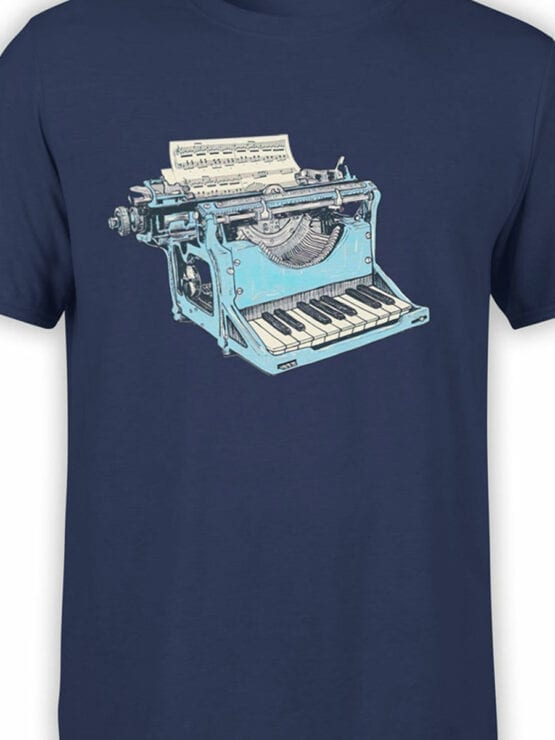 1869 Musical Typewriter T Shirt Front Color