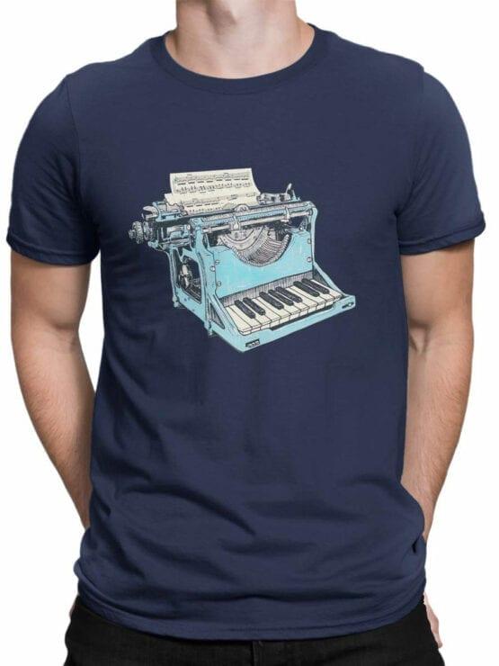 1869 Musical Typewriter T Shirt Front Man