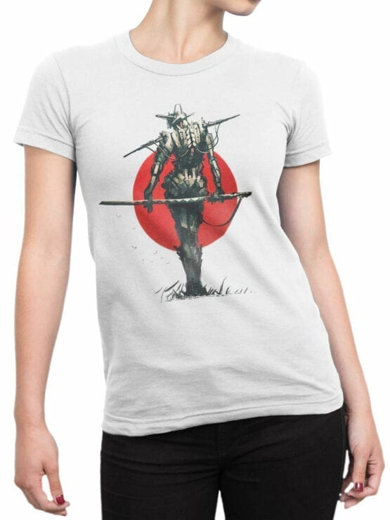 1870 Robo Samurai T Shirt Front Woman