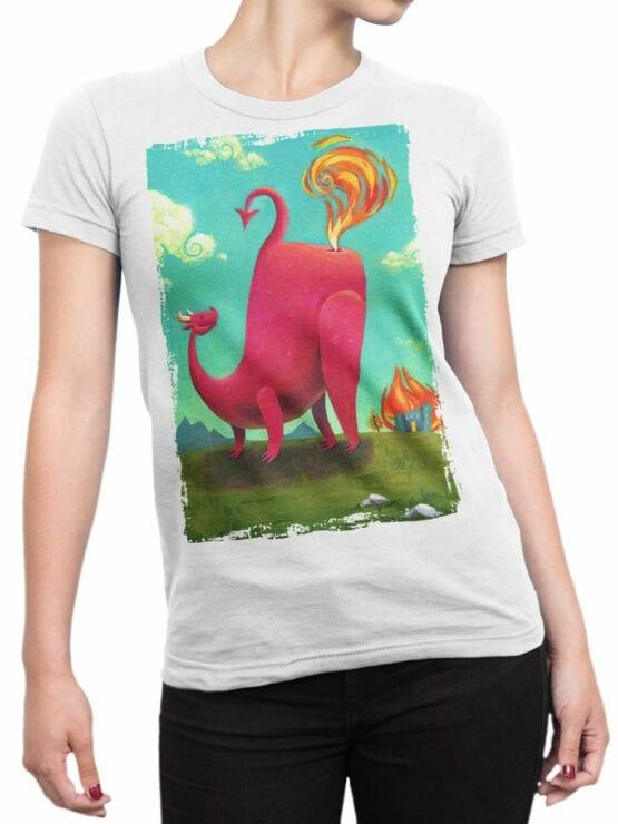 1875 Dragon Farts T Shirt Front Woman
