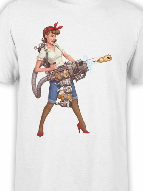 1879 Kittygun T Shirt Front Color