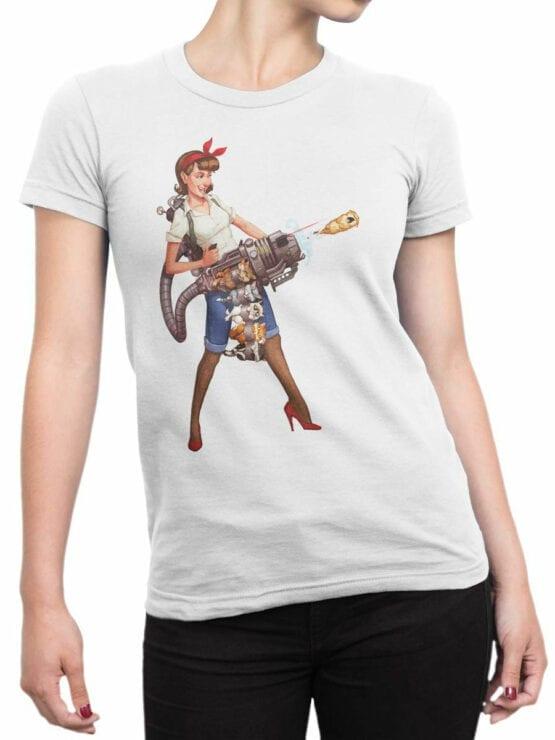 1879 Kittygun T Shirt Front Woman