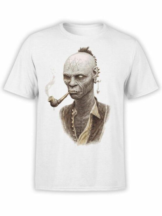 1882 Smoking Zombie T Shirt Front
