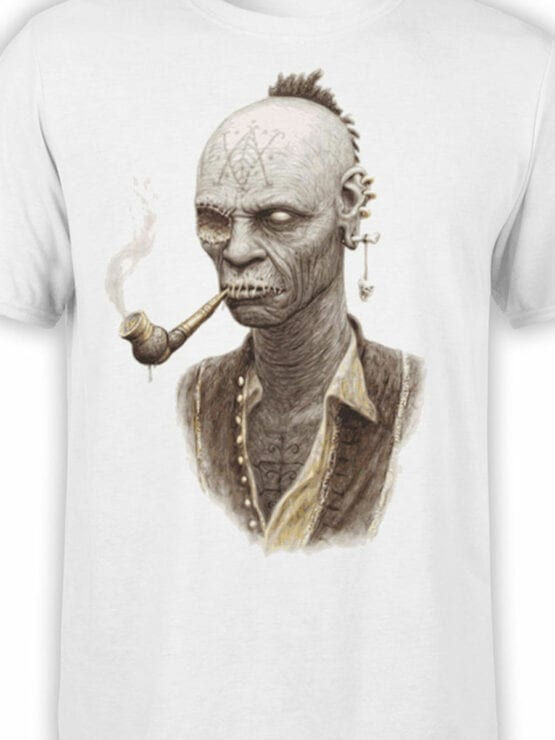 1882 Smoking Zombie T Shirt Front Color