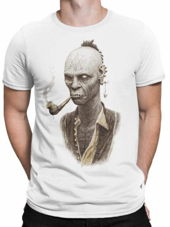 1882 Smoking Zombie T Shirt Front Man