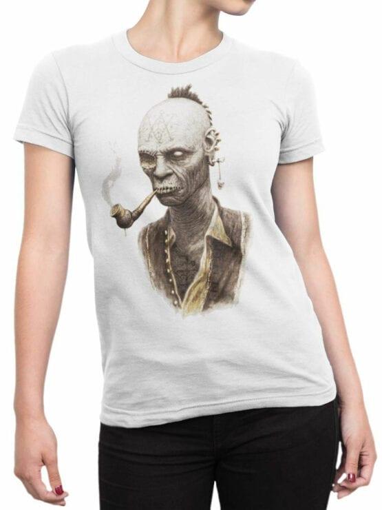 1882 Smoking Zombie T Shirt Front Woman