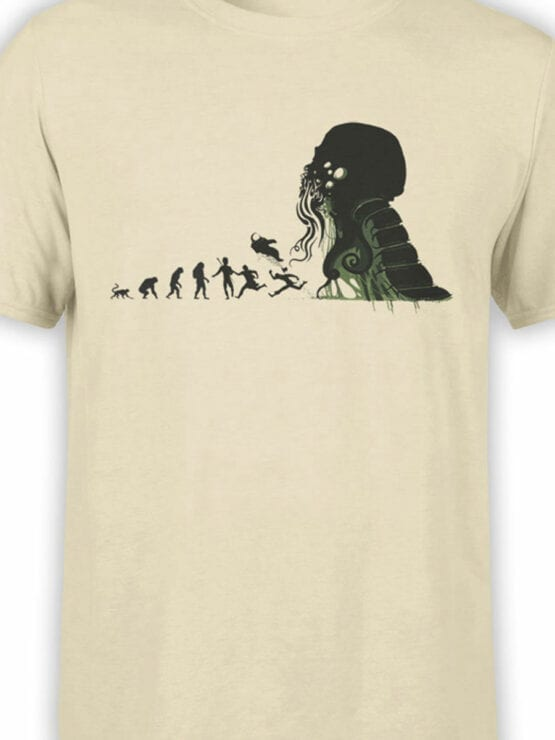 1883 Evolution of Cthulhu T Shirt Front Color