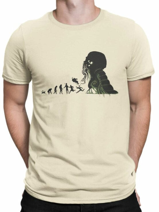 1883 Evolution of Cthulhu T Shirt Front Man