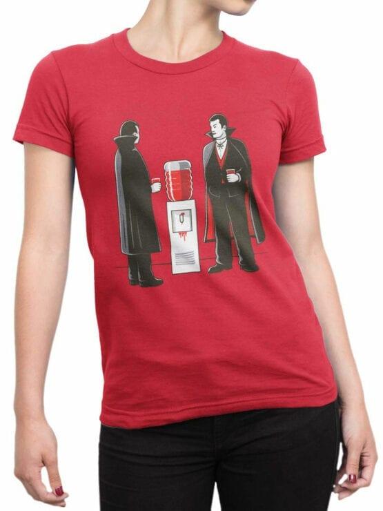 1885 Vampire Break T Shirt Front Woman