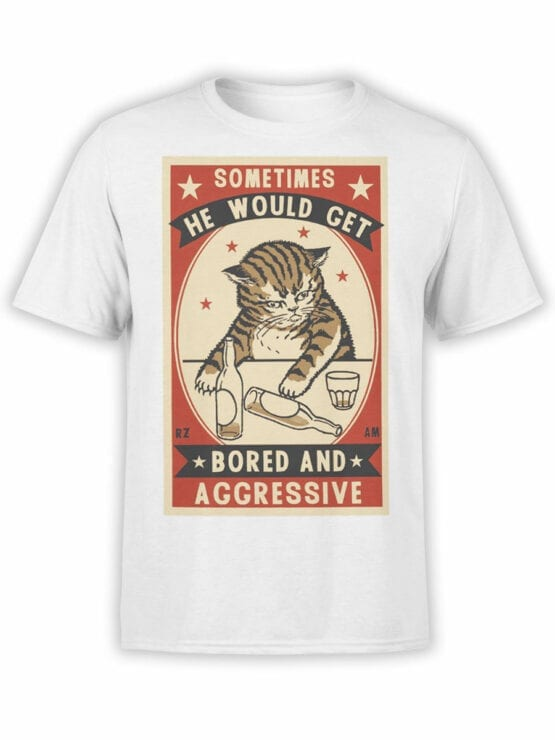 1886 Bored and Aggressive T Shirt Front