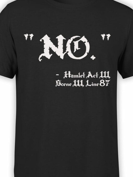1887 Hamlet No T Shirt Front Color