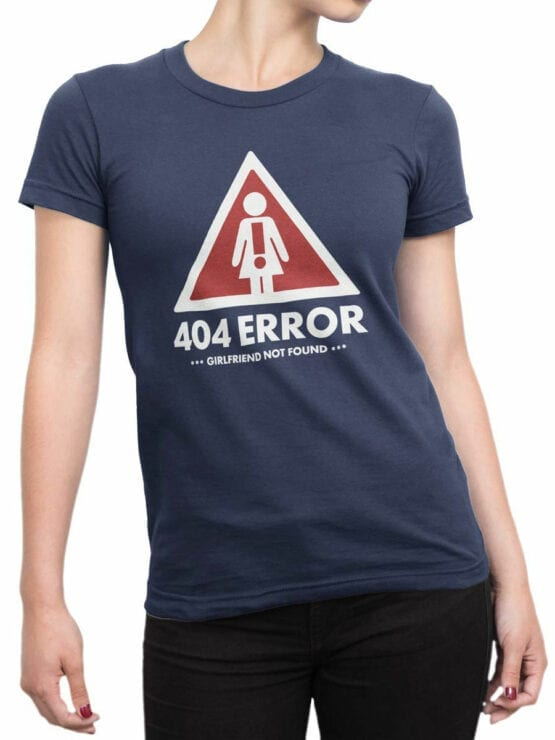 1896 Girlfrend Not Found T Shirt Front Woman