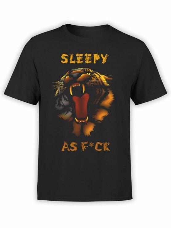 1896 Sleepy Tiger T Shirt Front