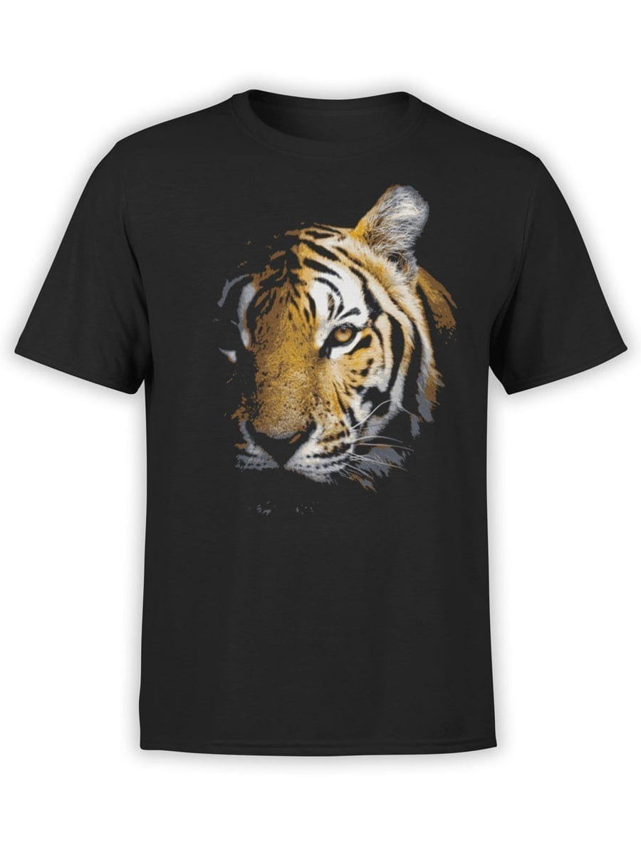 1899 Tiger Face T Shirt Front