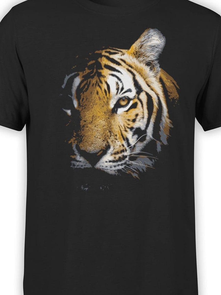 1899 Tiger Face T Shirt Front Color