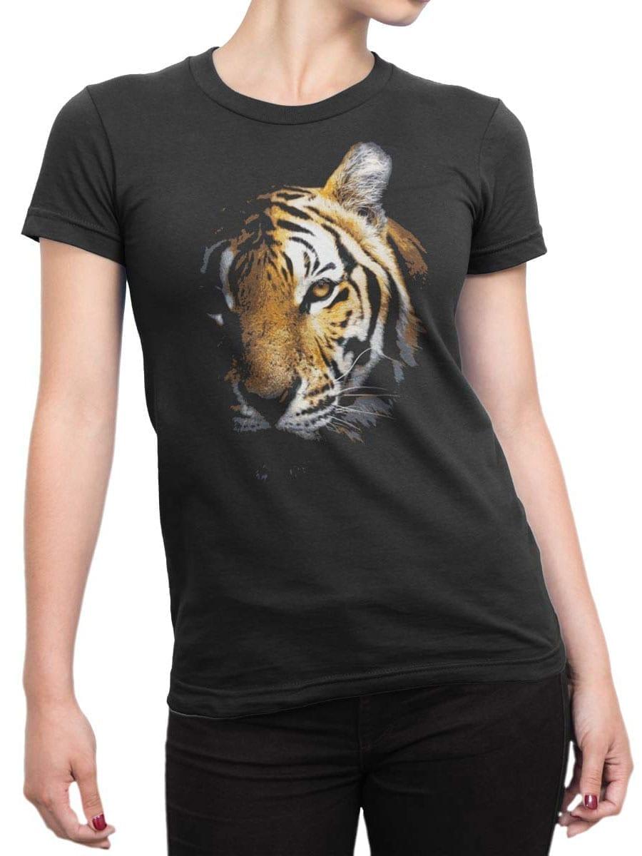 1899 Tiger Face T Shirt Front Woman