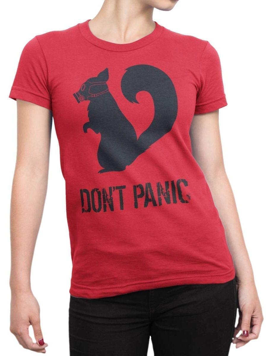 1900 Dont Panic T Shirt Front Woman