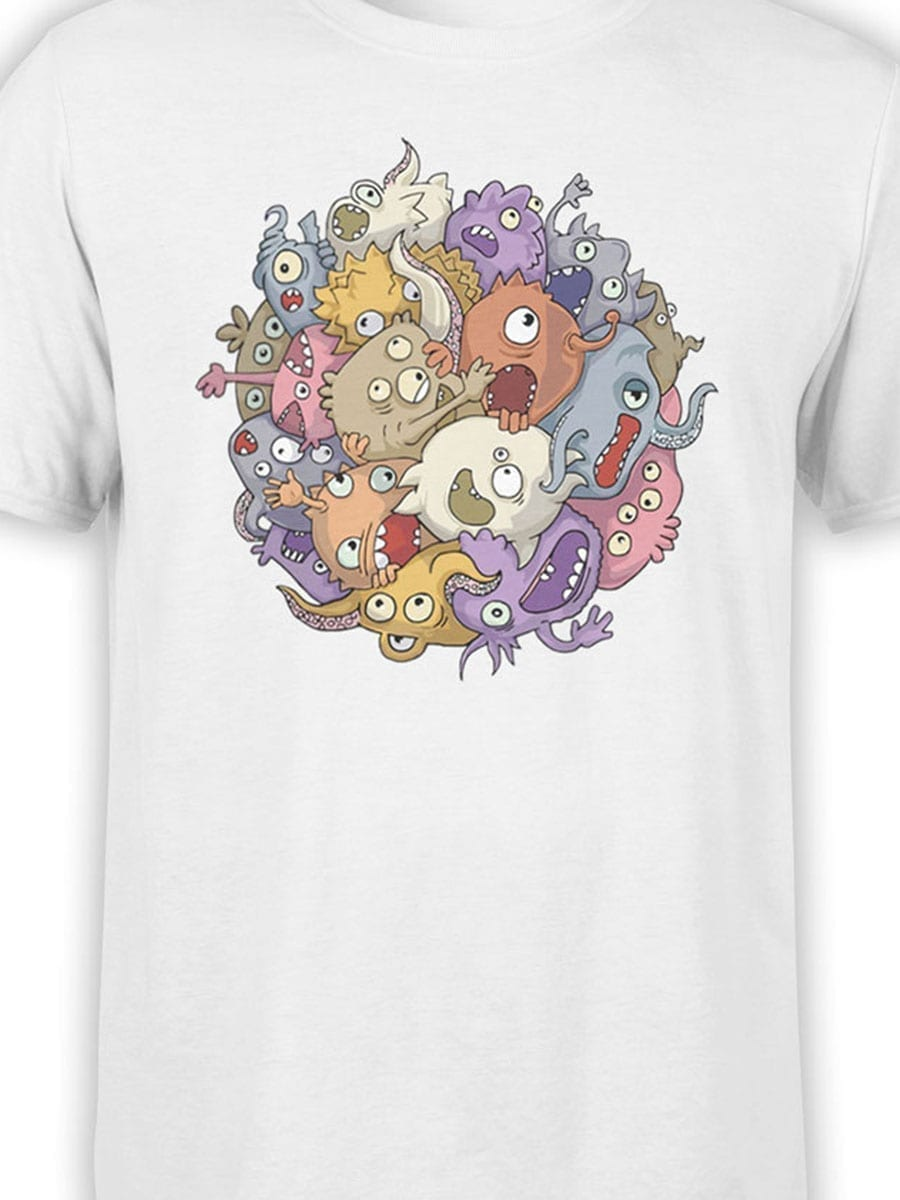 1902 Monsters Sphere T Shirt Front Color