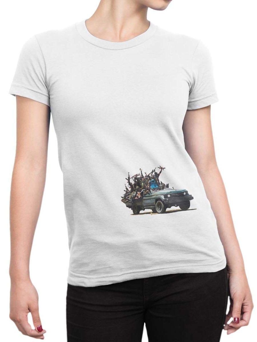 1904 Cookie Monster Terrorist T Shirt Front Woman