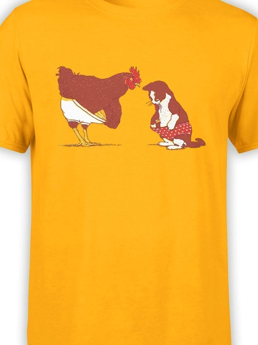 1910 Cock and Pussy T Shirt Front Color