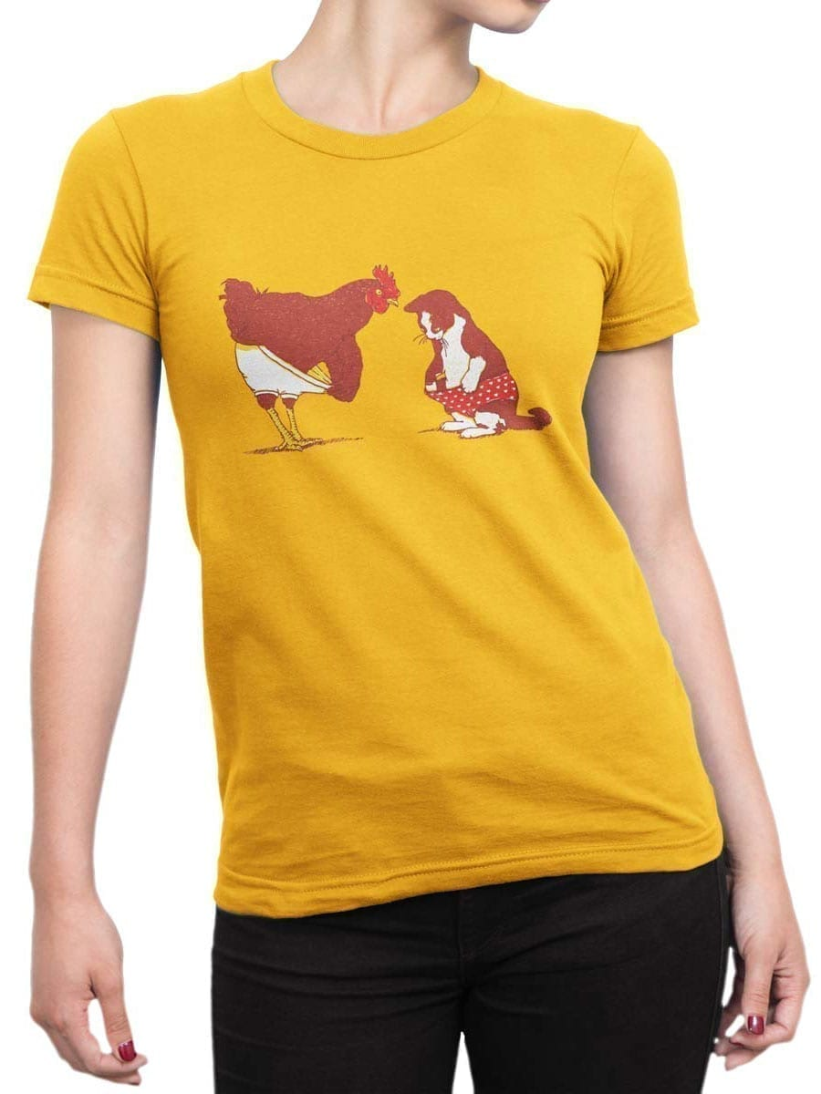 1910 Cock and Pussy T Shirt Front Woman