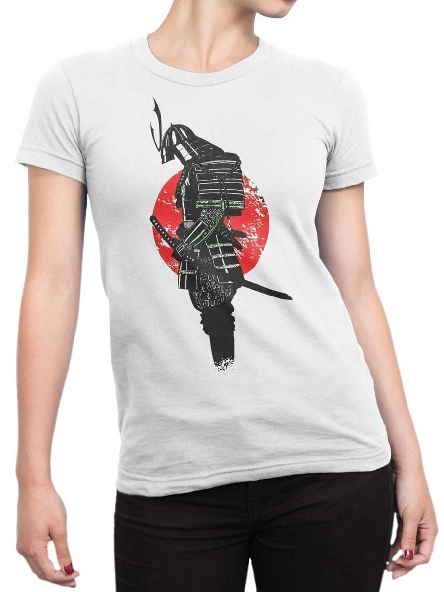 1914 Lonely Samurai T Shirt Front Woman