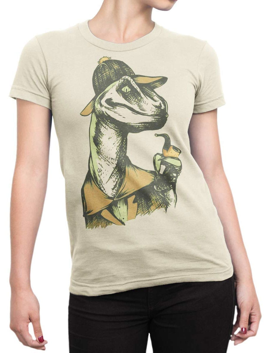1919 Dino Detective T Shirt Front Woman
